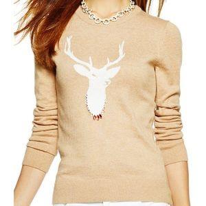 [C. Wonder] Camel Brown Bejeweled Deer Sweater